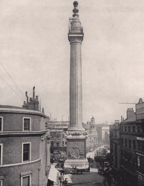 Associate Product The Monument - General view. London 1896 old antique vintage print picture