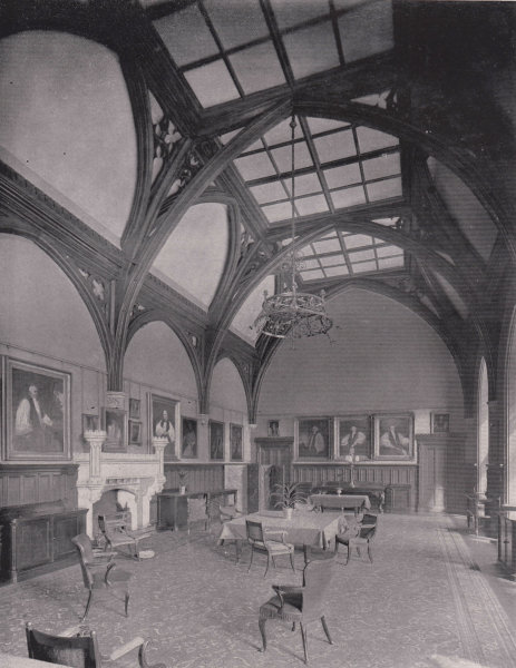 Associate Product Lambeth Palace - The Guard-Room. London 1896 old antique vintage print picture