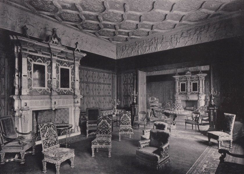 Associate Product Grocers' Hall - The Drawing-room. London 1896 old antique print picture