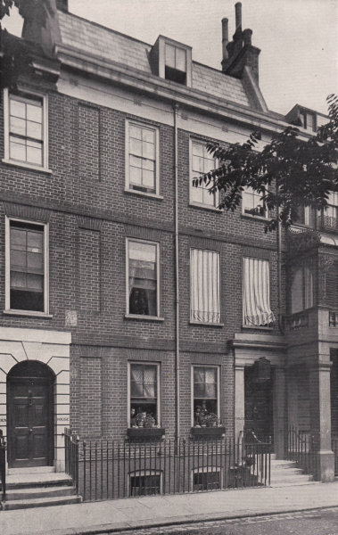 Associate Product Cheyne Row - Carlyle's house. London 1896 old antique vintage print picture