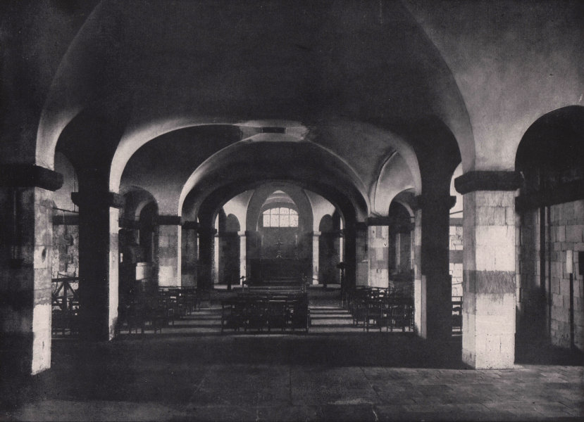 Associate Product St. Paul's Cathedral - The Crypt Chapel. London 1896 old antique print picture
