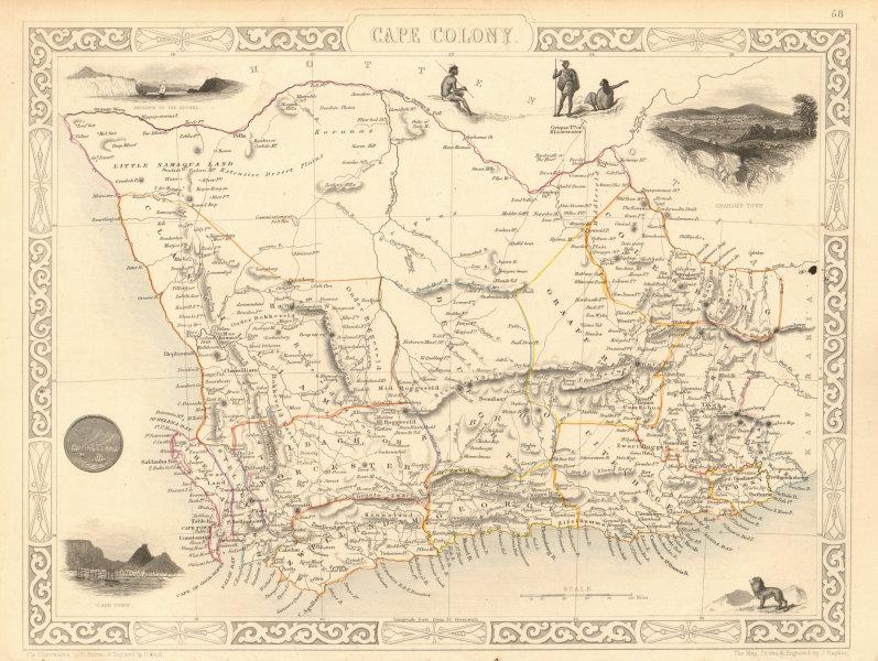 Associate Product CAPE COLONY. Cape Town view. South Africa Western Cape. RAPKIN/TALLIS 1851 map