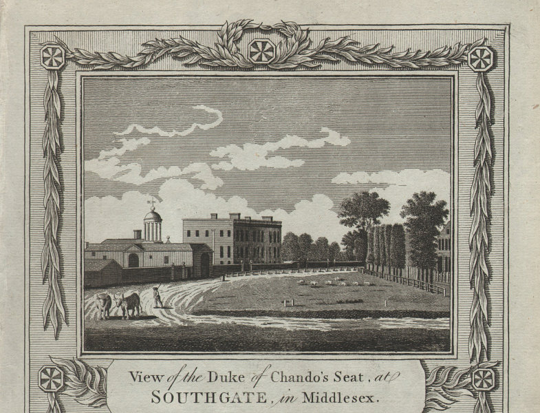 Duke of Chandos. Minchington Hall, Southgate Green. Arnos Grove. THORNTON 1784