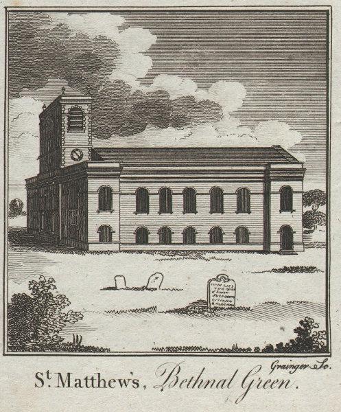 St. Matthew's church, Bethnal Green. George Dance the Elder SMALL. THORNTON 1784