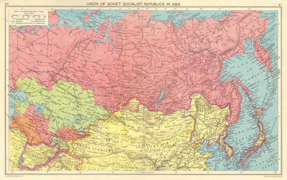 WORLD WAR 2. USSR. Japanese occupied Korea & Manchuria 1943 old vintage map