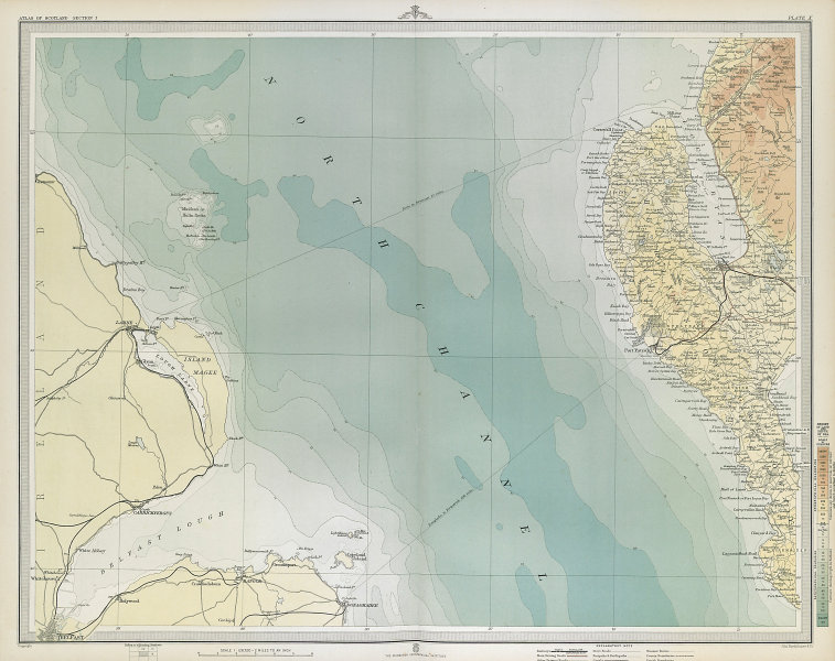 GALLOWAY. The Rhinns of Galloway. Wigtownshire. Stranraer. Luce Bay 1895 map