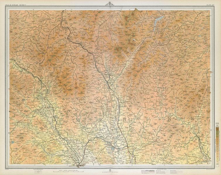 DUMFRIES Clydesdale Annandale Nithsdale Tweedale Eskdale. LARGE 1895 old map