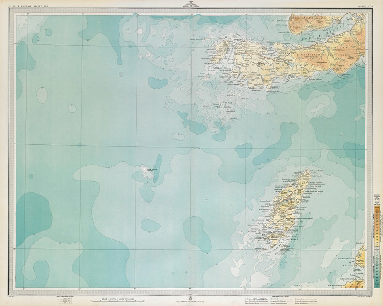 COLONSAY & ROSS OF MULL. Iona Oronsay Loch Scridain Ardmeanach. LARGE 1895 map