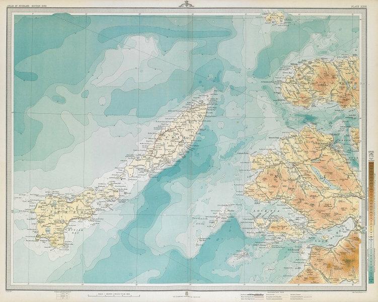 COLL, TIREE & WESTERN MULL. Tobermory Ardnamurchan Ulva. LARGE 1895 old map