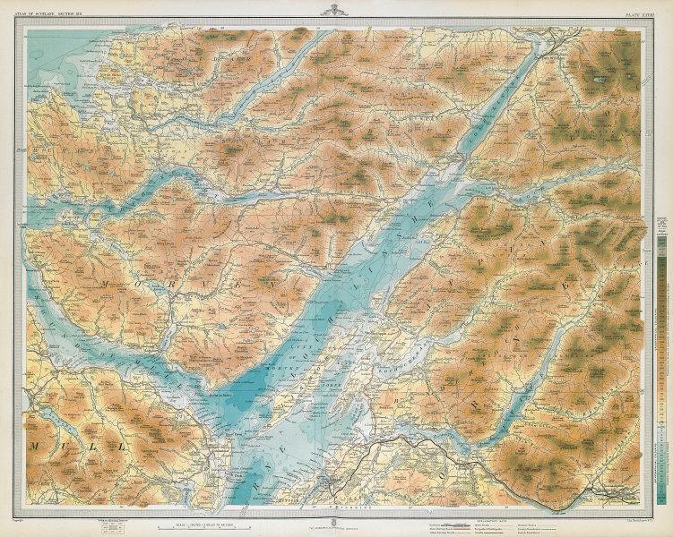 LOCH LINNHE Oban Sound of Mull Morven Appin Lorne Etive Sunart. LARGE 1895 map