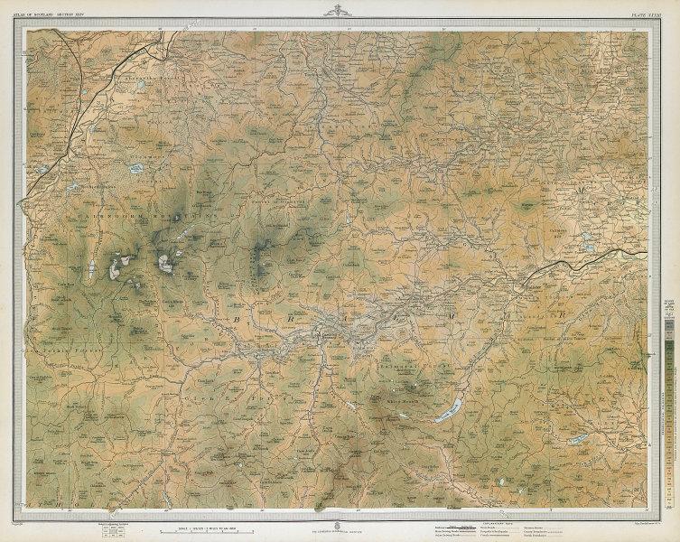 CAIRNGORM MOUNTAINS. Ballater Balmoral Aviemore Lecht Braemar. LARGE 1895 map