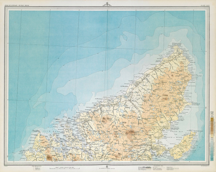 LEWIS Western Isles Outer Hebrides Stornoway. Scotland. LARGE 1895 old map