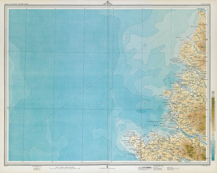 SUTHERLAND COAST Eddrachillis Bay Rhu Stoer Cape Wrath Scotland. LARGE 1895 map