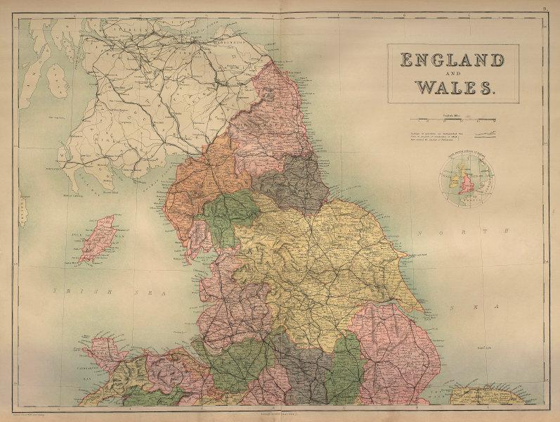 England & Wales North Sheet. Yorkshire Lancashire. BARTHOLOMEW 1870 old map