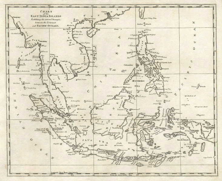 East India Islands. Philippines Indochina Indonesia. Arrowsmith & Lewis 1812 map