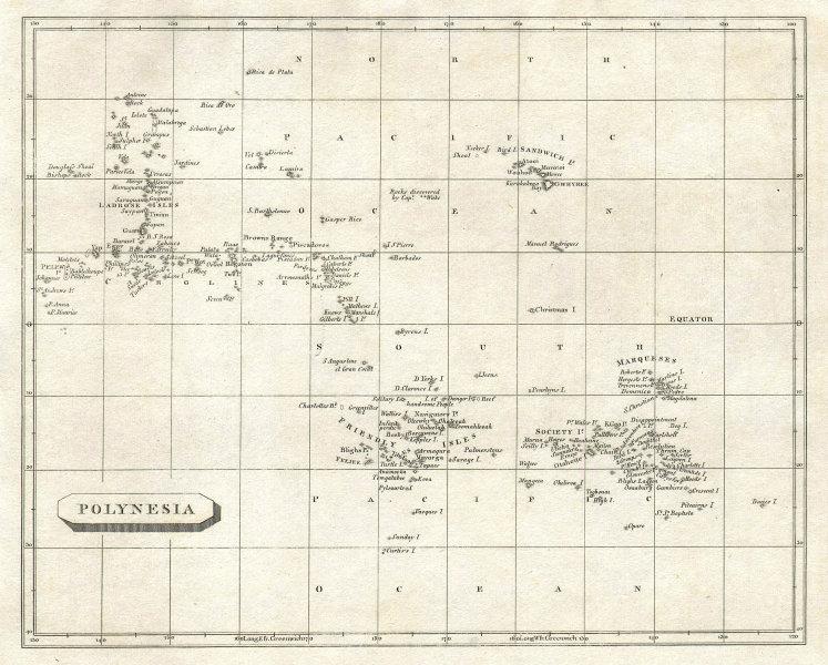 Polynesia by Arrowsmith & Lewis. Hawaii & Micronesia. Pacific Islands 1812 map