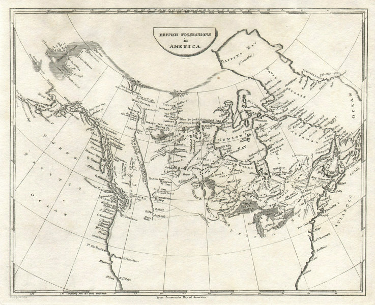 British Possessions in North America by Arrowsmith & Lewis. Canada 1812 map