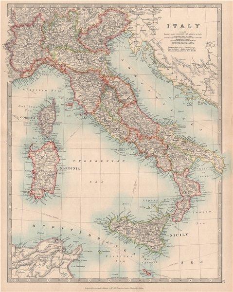 Associate Product ITALY. Railways. Key battlefields & dates. JOHNSTON 1912 old antique map chart