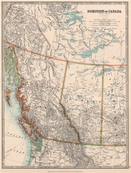 Associate Product BRITISH COLUMBIA & ALBERTA. Railways. Vancouver Island. JOHNSTON 1912 old map