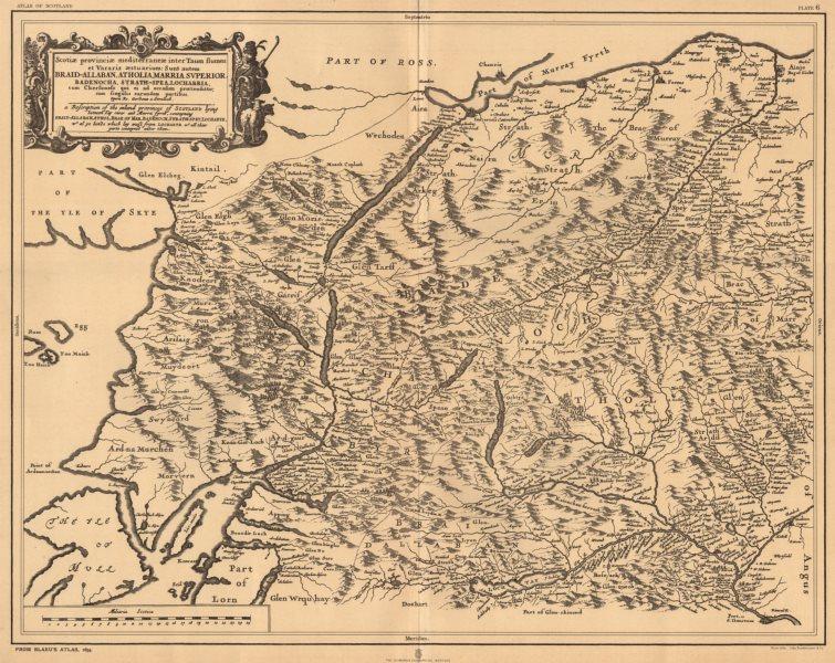 Associate Product 'Scotiae provinciae mediterraneae…'. Scotland. BLAEU 1654 facsimile 1912 map