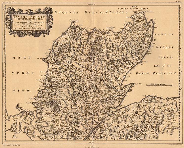 Associate Product 'Extima Scotiae Septentrionalis Ora' Scottish Highlands BLAEU 1654 copy 1912 map