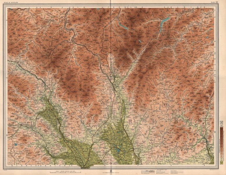 Associate Product DUMFRIES Clydesdale Annandale Nithsdale Tweedale Eskdale. LARGE 1912 old map
