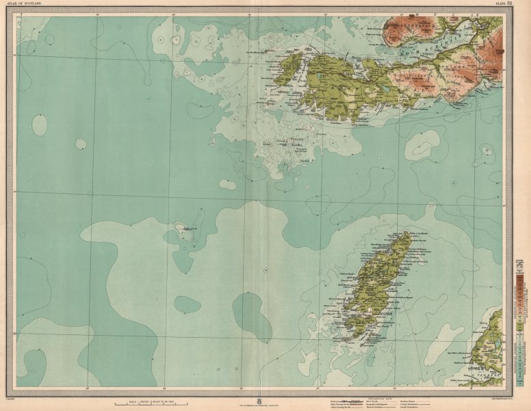 Associate Product COLONSAY & ROSS OF MULL. Iona Oronsay Loch Scridain Ardmeanach. LARGE 1912 map