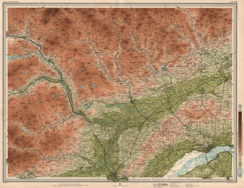 Associate Product PERTH ENVIRONS Firth of Tay Dundee Strathmore Strathtay Cairngorms 1912 map