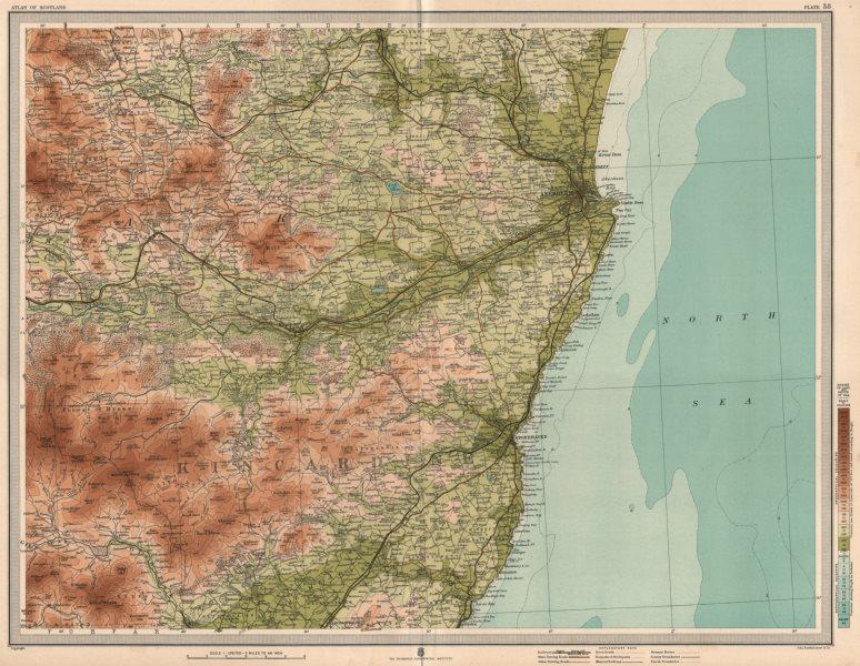 Associate Product KINCARDINE/ABERDEENSHIRE COAST. Stonehaven Alford Bervie Dee. LARGE 1912 map