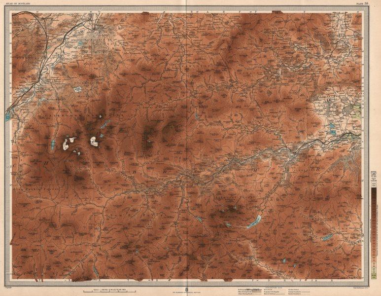 Associate Product CAIRNGORM MOUNTAINS. Ballater Balmoral Aviemore Lecht Braemar. LARGE 1912 map