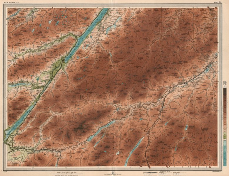 Associate Product LOCH NESS & WESTERN CAIRNGORMS Kingussie Fort Augustus Loch Lochy LARGE 1912 map