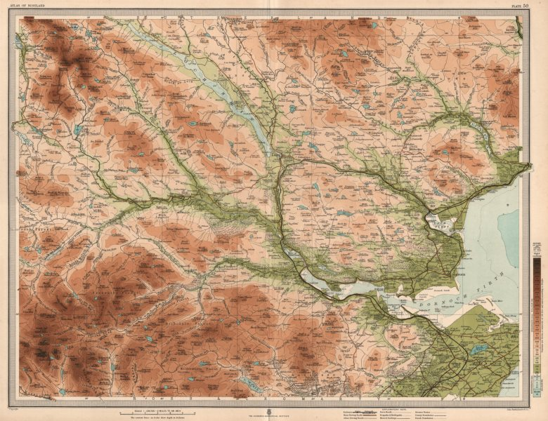 Associate Product SUTHERLAND Ross & Cromartyshire Dornoch Firth Loch Shin Tain. LARGE 1912 map
