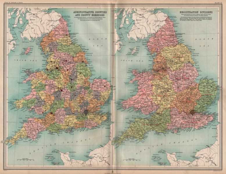 Associate Product UK. Isle of Ely. Lincolnshire Parts. Kesteven Holland Lindsey. LARGE 1903 map