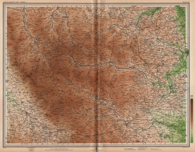 Associate Product NORTH PENNINES. Durham Appleby Consett Darlington Barnard Castle. LARGE 1903 map