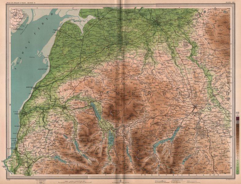 Associate Product LAKE DISTRICT NORTH. Carlisle Keswick Cockermouth Ullswater. Cumbria 1903 map