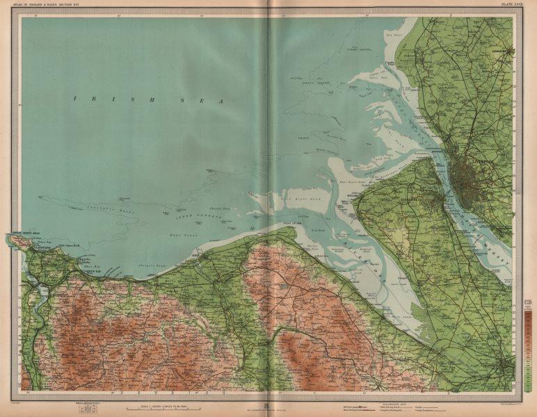 Associate Product MERSEYSIDE DEESSIDE. Liverpool Chester Rhyl Wirral Birkenhead Denbigh 1903 map