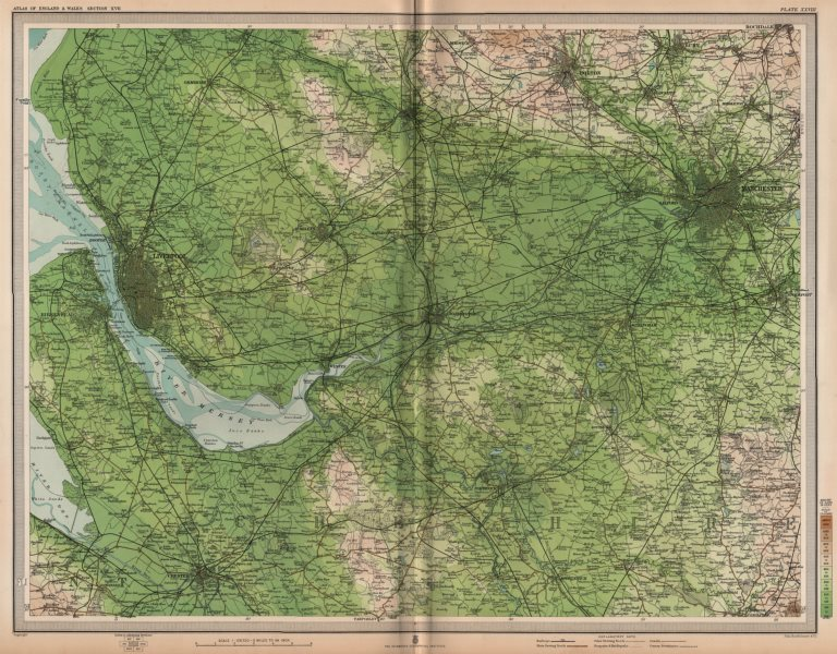 Associate Product NW ENGLAND. Liverpool Manchester Cheshire Bolton Wilmslow Bolton. LARGE 1903 map
