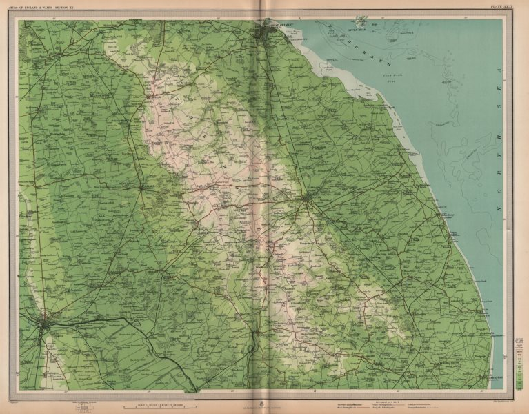 Associate Product LINCOLNSHIRE WOLDS. Lincoln Grimsby Louth Skegness Horncastle. LARGE 1903 map