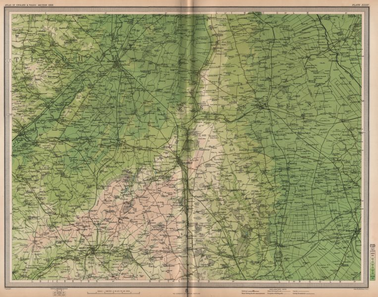 Associate Product LINCOLNSHIRE FENS. Newark-on-Trent Grantham Sleaford Spalding Notts 1903 map