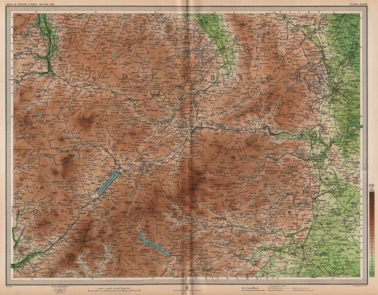 Associate Product DEE VALLEY. Bala Wrexham Llangollen Corwen Chirk Ceiriog Vale Clwyd 1903 map