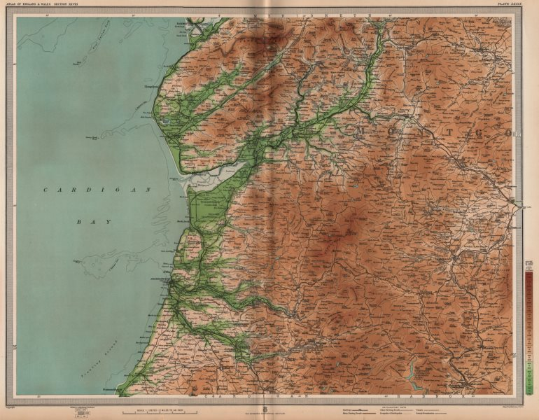 Associate Product CAMBRIAN MOUNTAINS. Aberystwyth Barmouth Aberdovey. Wales. Cardigan Bay 1903 map