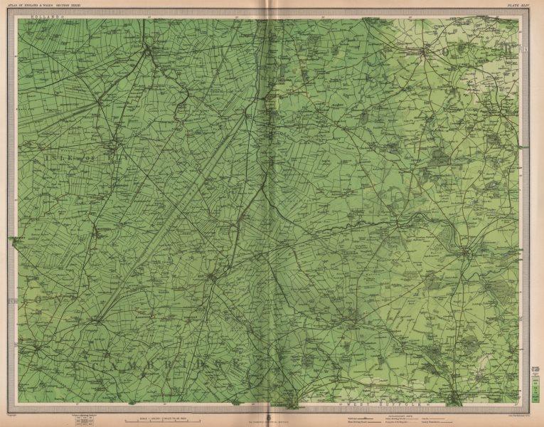 Associate Product THE FENS. Cambridgeshire Isle of Ely Thetford Swaffham East Anglia 1903 map