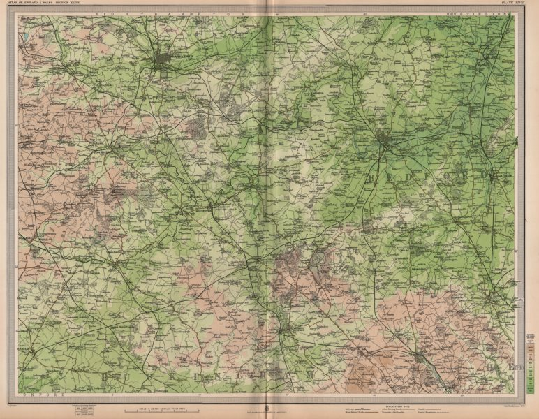 Associate Product OUSE VALLEY. Northampton Luton Buckingham Olney Bedford St Neots. LARGE 1903 map