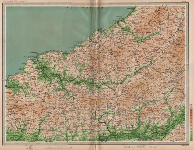 Associate Product SOUTH WEST WALES. Cardigan Pembrokeshire Carmarthen Llandilo Newport 1903 map