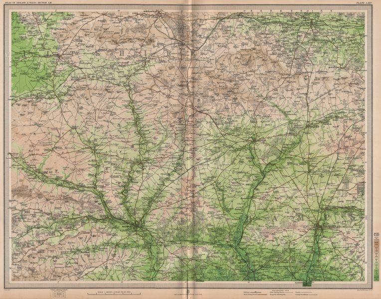 Associate Product SALISBURY PLAIN. Winchester Devizes Marlborough Wiltshire Hampshire 1903 map