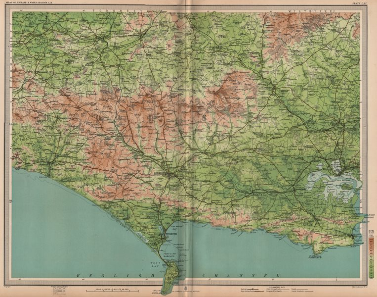 Associate Product DORSET. Weymouth Portland Dorchester Poole Yeovil Blandford. LARGE 1903 map