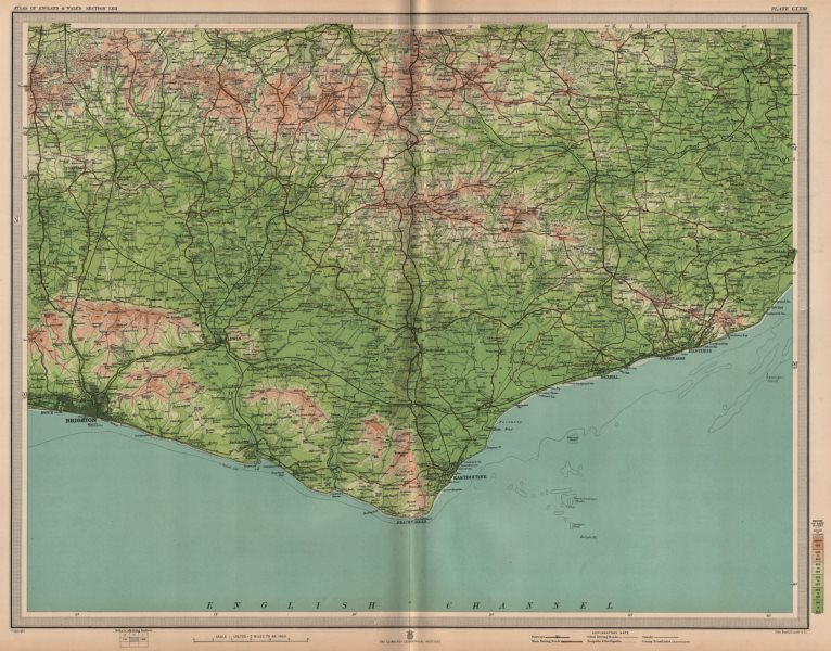 Associate Product EAST SUSSEX. Brighton Eastbourne Bexhill Hastings Ashdown Forest. LARGE 1903 map