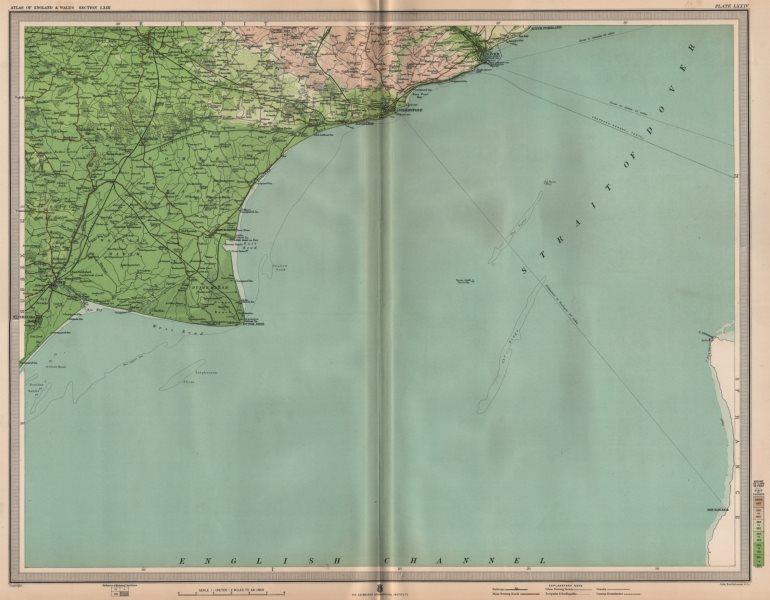 Associate Product KENT. Folkestone Dover Dungeness Rye Ashford Romney Marsh Cap Gris Nez 1903 map