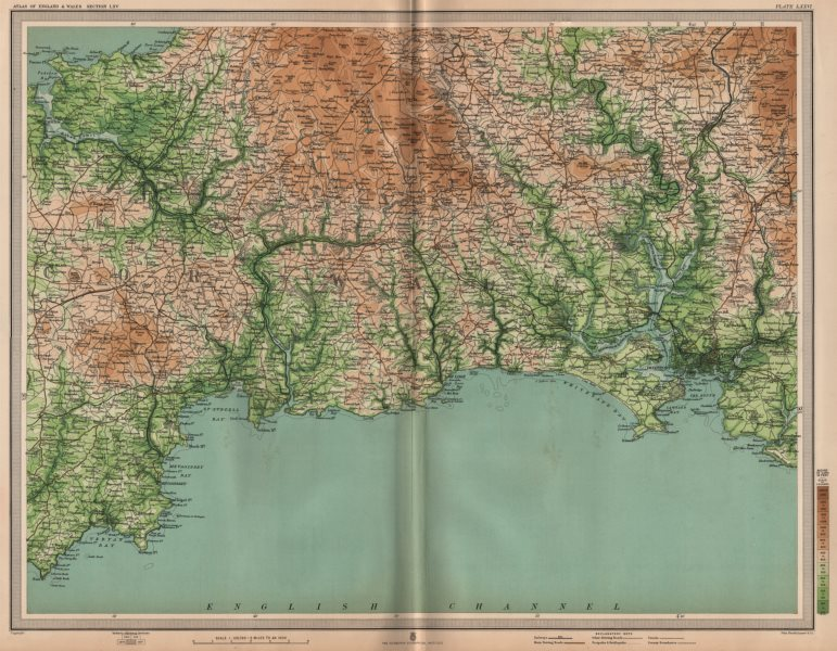 Associate Product CORNWALL. Bodmin Moor Plymouth Looe Fowey Padstow St Austell . LARGE 1903 map