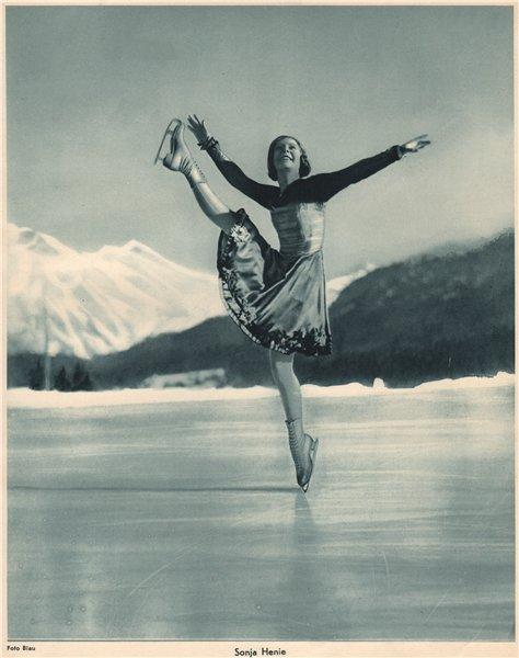 Associate Product ICE FIGURE SKATING. Sonja Henie. Norwegian, World and Olympic Champion (3) 1935